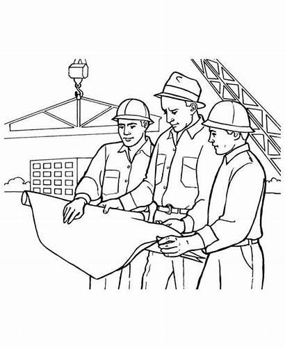 Construction Worker Coloring Building Looking Grab Utilising