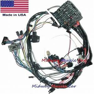 Dash Wiring Harness With Fuse Block 76 77 78 Chevy Camaro
