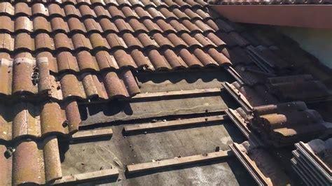 tile roofs leak   felt  roof fails youtube