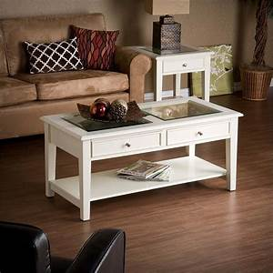 Southern enterprises panorama glass top coffee table in for In home furniture enterprise