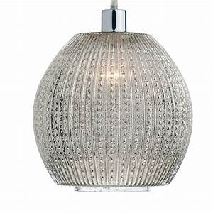 Dar lighting sonia antique silver glass easy fit pendant
