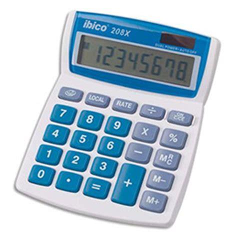 calculatrice de bureau ibico calcul 208x 8 chiffres achat pas cher