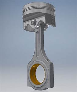 3d Car Engine Piston
