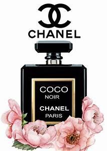 Chanel Noir Floral Gloss Print Perfume Poster - Unframed ...