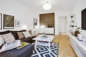 Ikea Tapis Salon : le fameux tapis noir et blanc planete deco a homes world ~ Premium-room.com Idées de Décoration