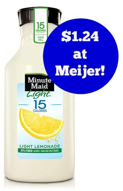 minute light lemonade meijer minute light lemonade only 1 24 become a