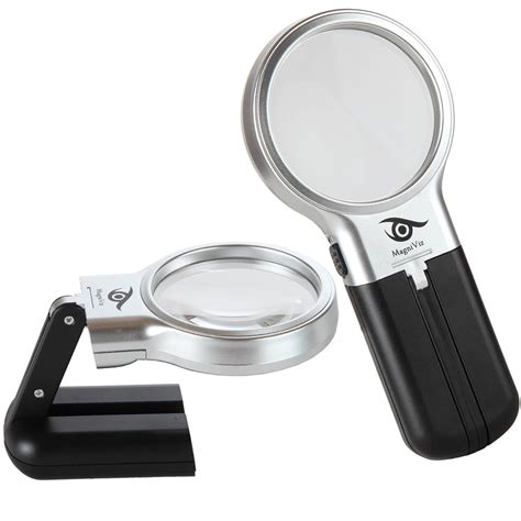lighted magnifying hobby l magniviz magnifying glass hobby craft magnifier with led