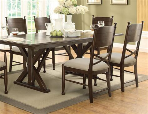 Coaster Casual Brown Cherry Wood Dining Side Chairs