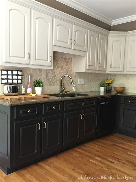 kitchen cabinet painting black kitchen cabinets the at home with the