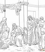 Jesus Coloring Children Come Let Pages Unto Printable Crafts Bloch Heinrich Carl sketch template