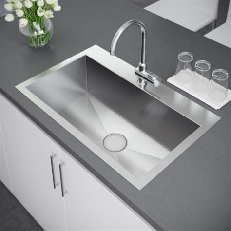 stainless steel kitchen sinks top mount bowl top mount sink exclusive heritage usa 9896
