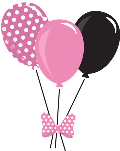 Balloons Clipart Balloon Clipart Minnie Mouse Pencil And In Color Balloon
