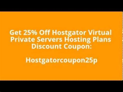 Save $40 on cloud servers + 50% discount on the first 3 months. Hostgator Vps Coupon Code 2014 | 25% Off Hostgator Virtual ...