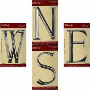 Whitehall 6quot classic house numbers letters brushed for Brushed nickel house numbers and letters