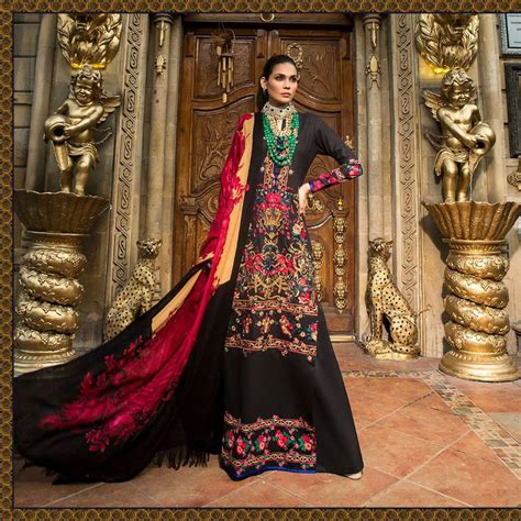latest  safinaz winter shawl dresses collection