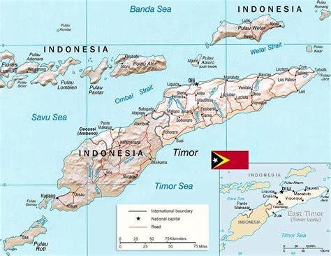 mapa de timor leste conteudos culturais   east
