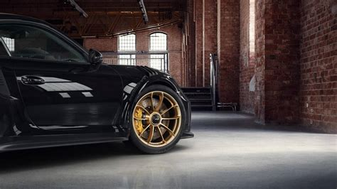 porsche  gt rs  satin aurum wheels motorcom