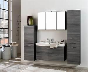 Waschtisch Mit Spiegelschrank 80 Cm : badm bel set florida mit waschtisch und spiegelschrank 6 teilig 180 cm breit eiche ~ Markanthonyermac.com Haus und Dekorationen
