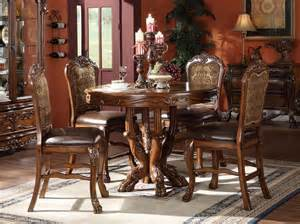 dresden elegant formal round counter height 5 piece dining