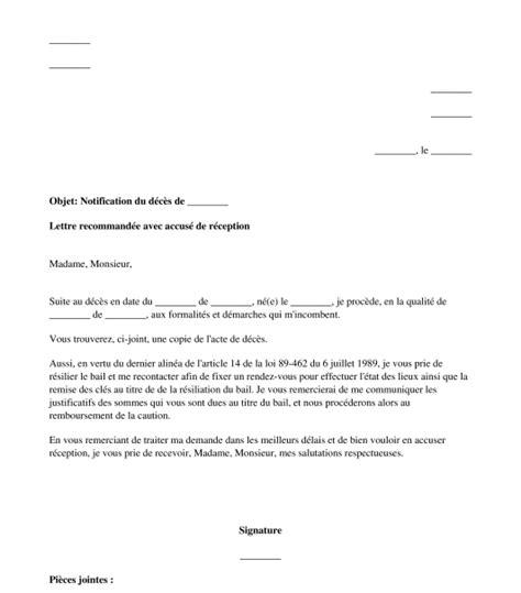 modèle lettre résiliation bail zone tendue model lettre resiliation de bail mod 232 le cong 233 bail jaoloron
