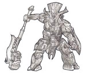 Drawing Halo Brute Chieftan