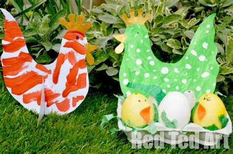 easter chick crafts  kids red ted arts blog