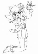 Coloring Pages Anime Printable Mew Sheets Mint Manga Kikyo Princess Books Colorare Da Sheet Fantastico Serenity Catwoman Easy 4kids Birds sketch template