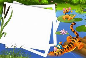 Kids Transparen PNG Photo Frame with Tigger and Kanga ...