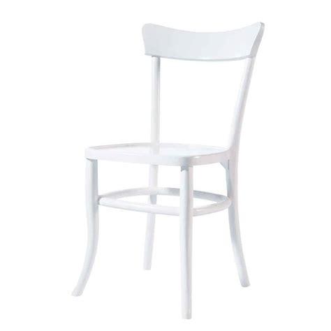 chaise blanche bois chaise en bois massif blanche bistrot maisons du monde