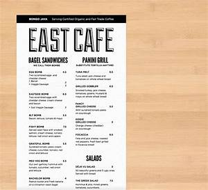 Bongo East Cafe Menu