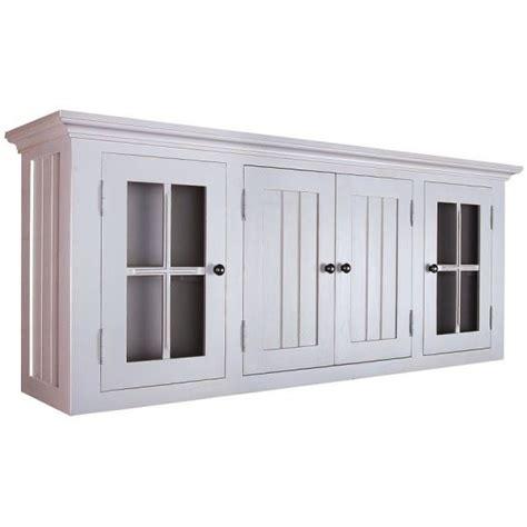 element haut de cuisine meuble haut pin massif gris l 157 x achat