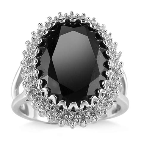 fashion women 925 silver black onyx ring wedding