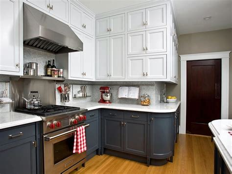 Two Color Kitchen Cabinets Home Furniture Design