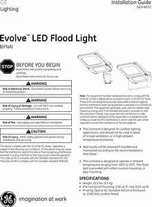 Ge Efna Installation Guide Evolve Led Flood Light  U2014