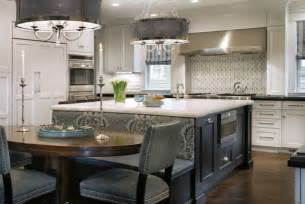 Kitchen Islands That Seat 6 Center Island With Back Side Bench Seating