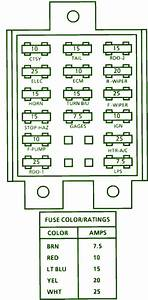 1992 Chevrolet Lumina 3100 Fuse Box Diagram