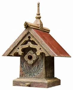 Gothic Barnwood Birdhouse - Rustic - Birdhouses - by Barns