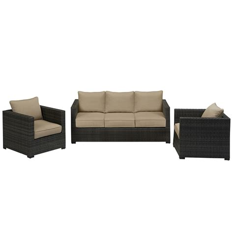 Sears Patio Furniture Monterey by Grand Resort Monterey 3pc Sofa Seating Set Neutral