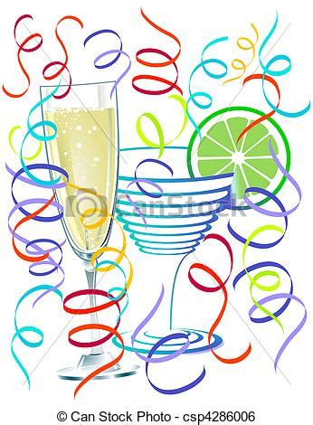Cocktail Clipart Cocktail Party  Pencil And In Color