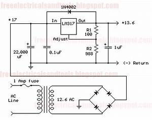 Free Schematic Diagram  Variable Voltage Regulator Circuit