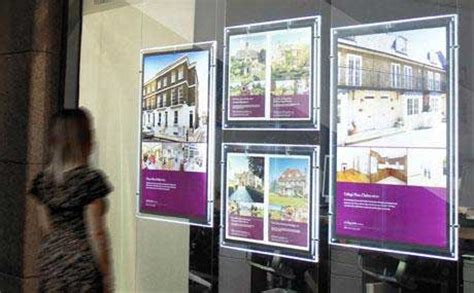 wall mounted displays for estate agents