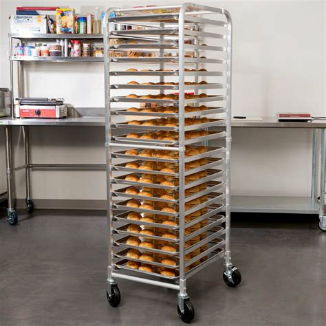 rack bakery pan commercial baking sheet bakers bun pizza dough load end