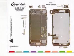 New    Iphone 7 4 7 U0026quot  Magnetic Screw Chart Mat Repair Guide Pad Tool Usa Seller