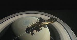Cassini spacecraft snaps a photo of Earth between Saturn's ...