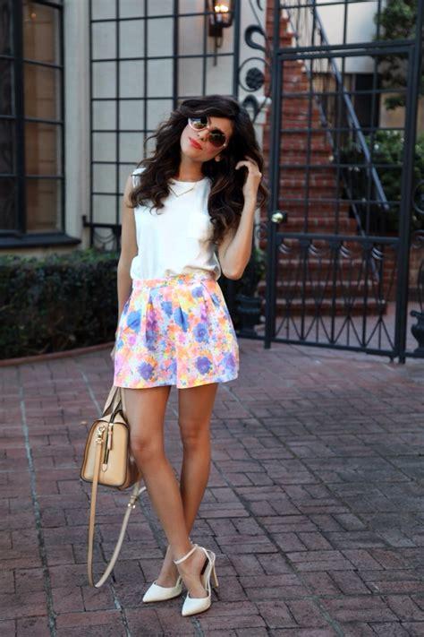 Floral Skirt Feminine Style Sazan