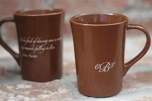 custom brown mugs With coffee mug wedding favors