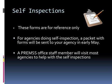 Self Inspection Equipment Scavenger Hunt Powerpoint