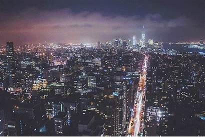 Night Boy Nyc Gifs York Lights Landscape