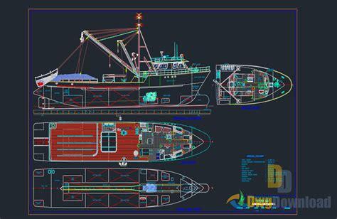 fishing ship detail dwg 187 dwgdownload