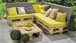 Palette De Bois : stunning palette pour faire un salon de jardin ideas ~ Premium-room.com Idées de Décoration